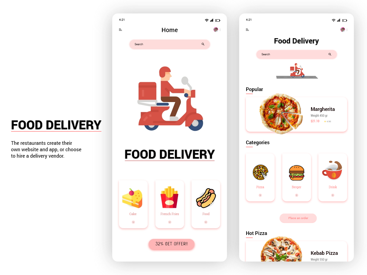 Food Delivery Mobile App Design Thumbnail