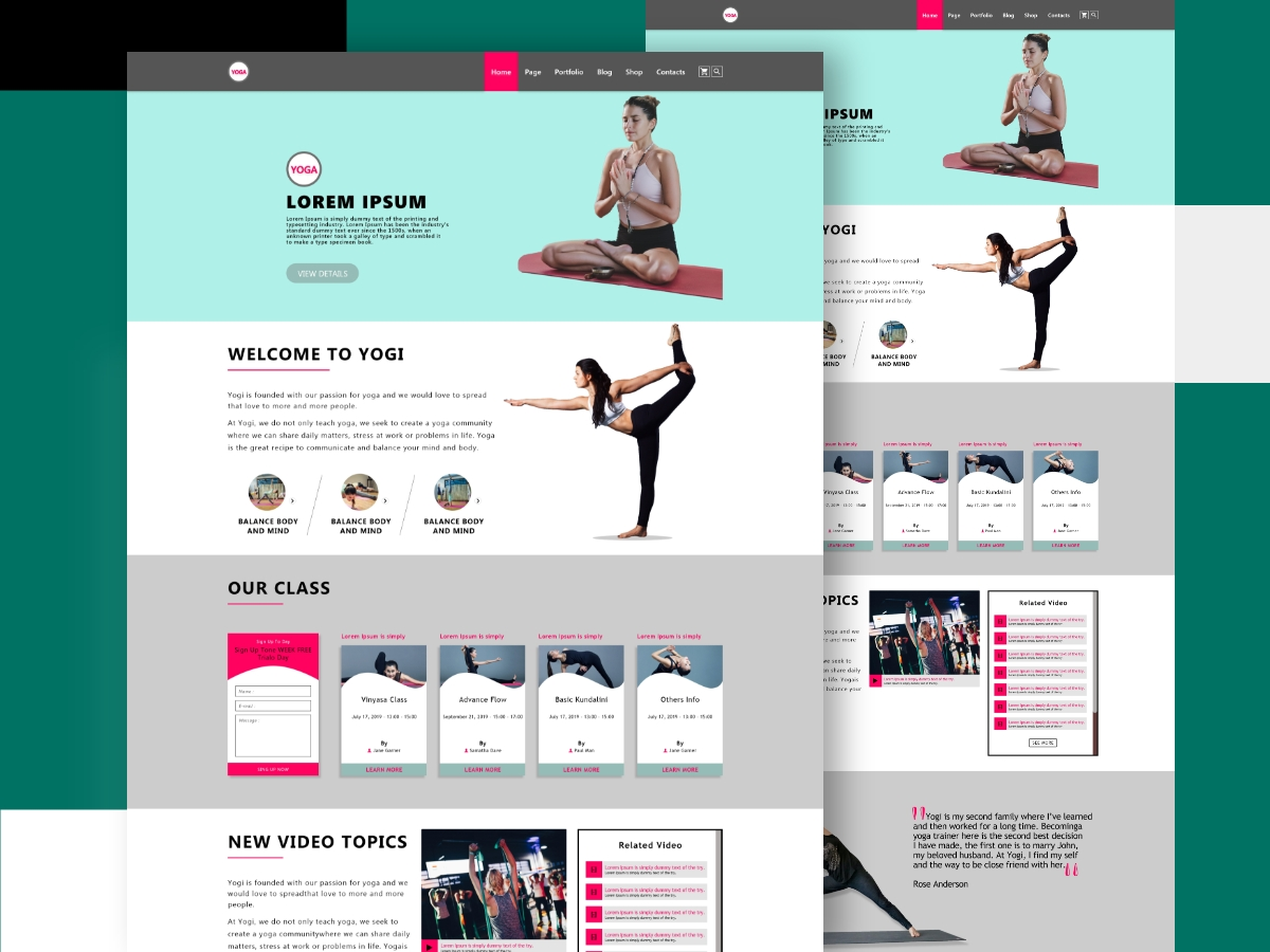Yoga Landing Pages and Templates Thumbnail