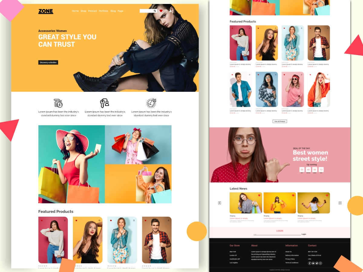 eCommerce Online Shopping Landing Page Template Design