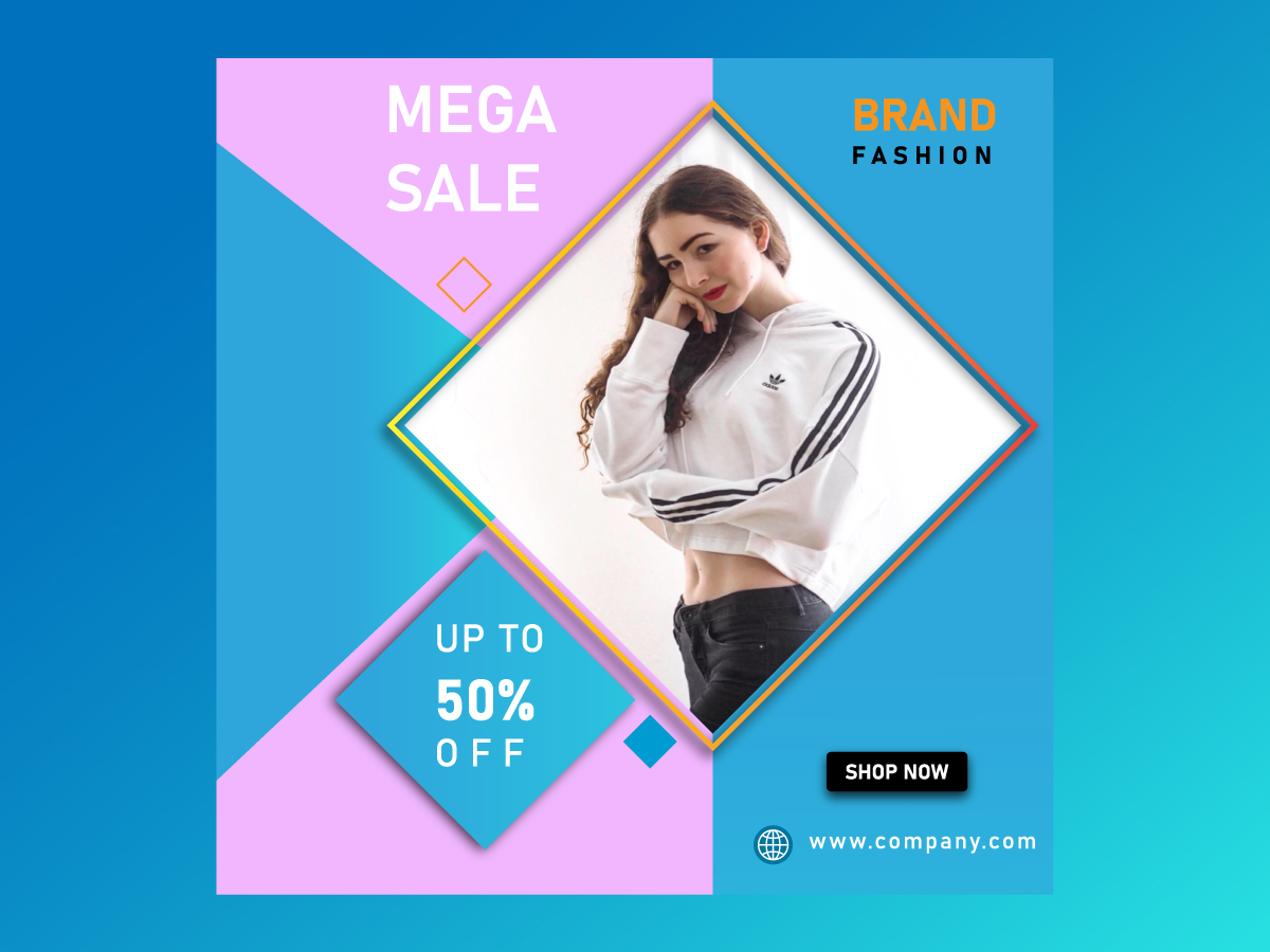 Fashion Online Banner PSD Template
