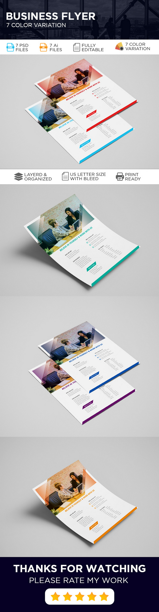 Free Company Profile Flyer Template InDesign Preview image