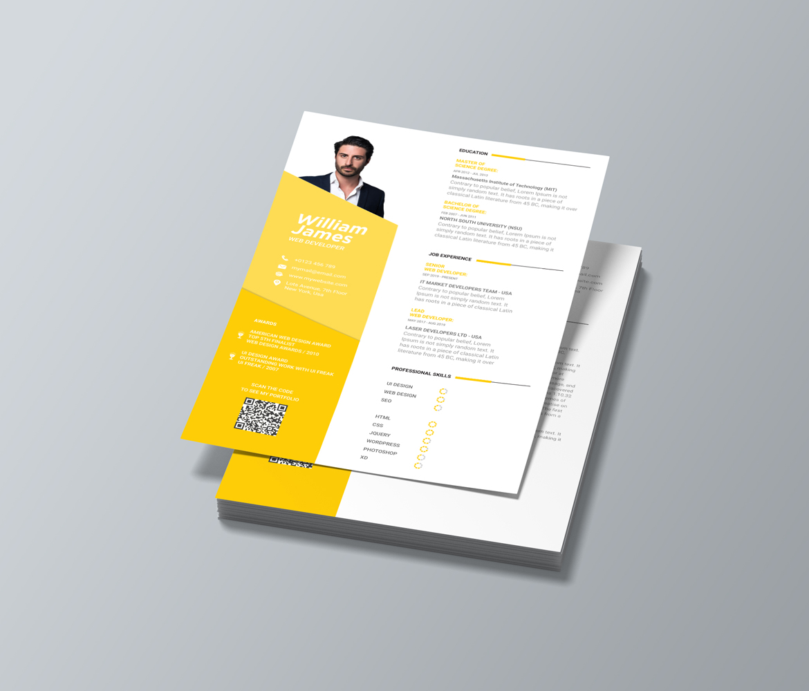 Free Resume Template for Microsoft Word Image