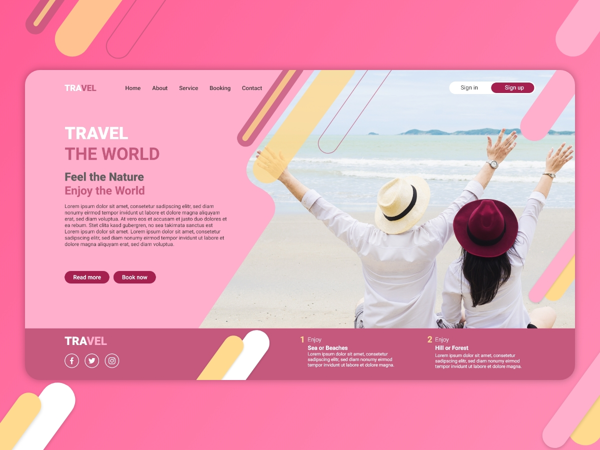 Travel-Website-Template-Design