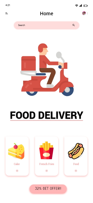 Food Delivery Mobile App Template