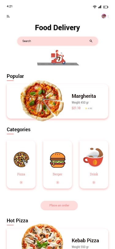 Food Delivery Mobile App Design Preview Image 1