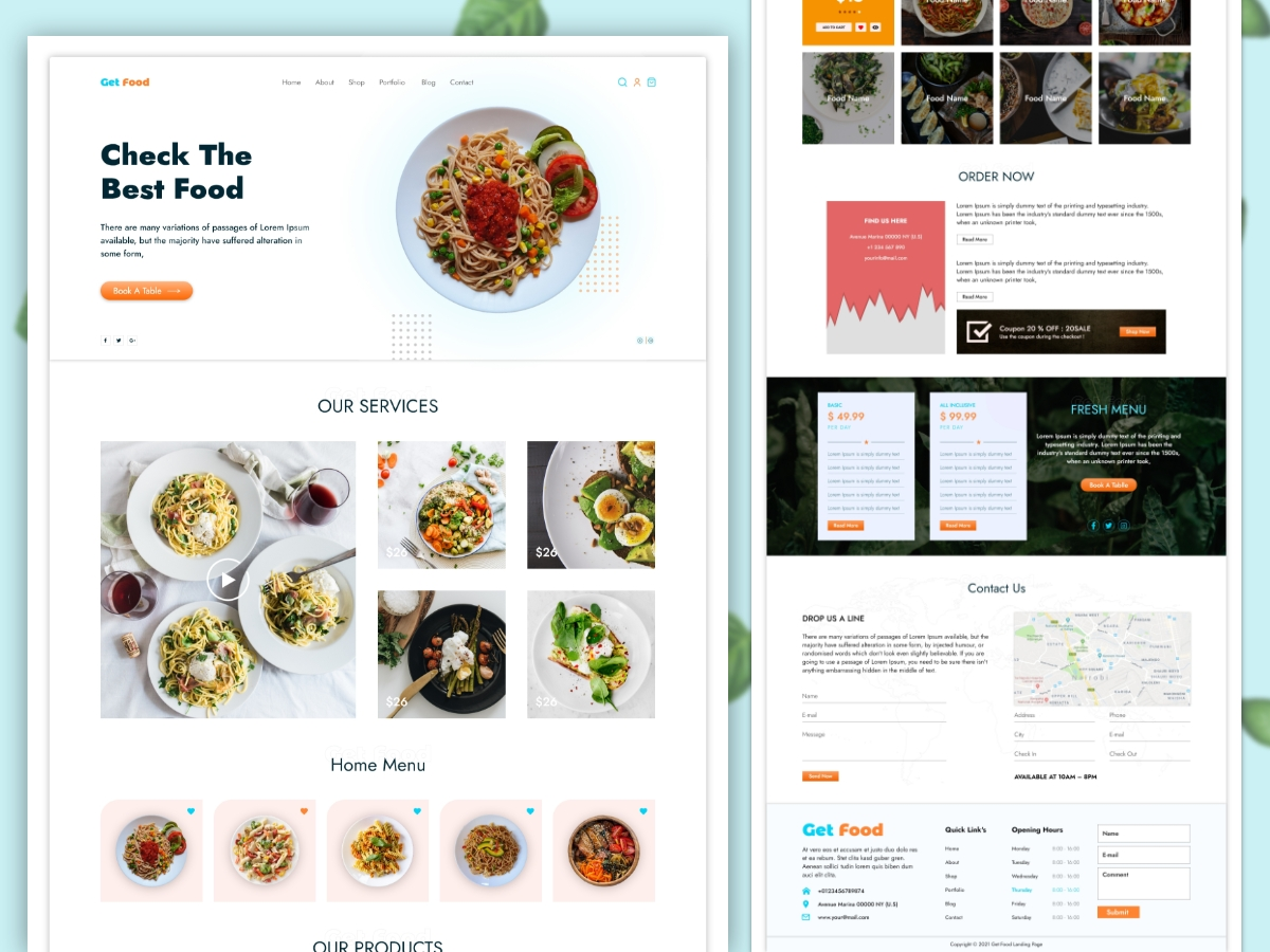 Food-Restaurant-Web-Landing-Page-Template