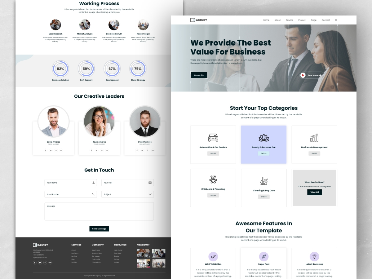 Creative Agency Landing Page Template