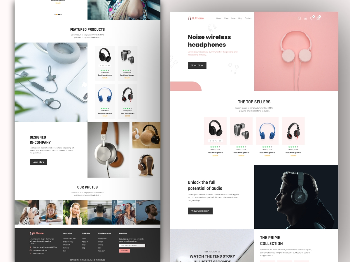 Ecommerce Landing Page Template Design