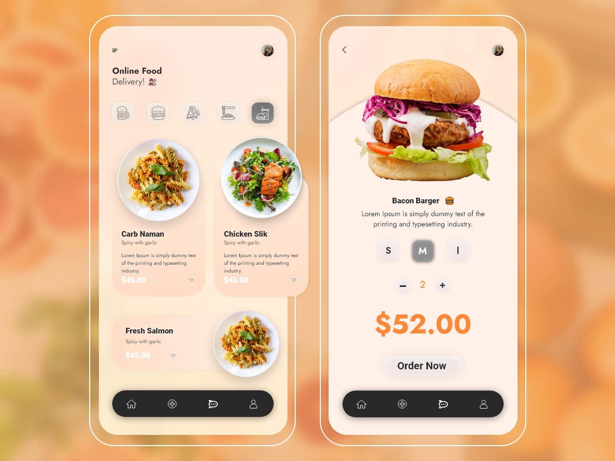 Food Delivery Mobile App Templates