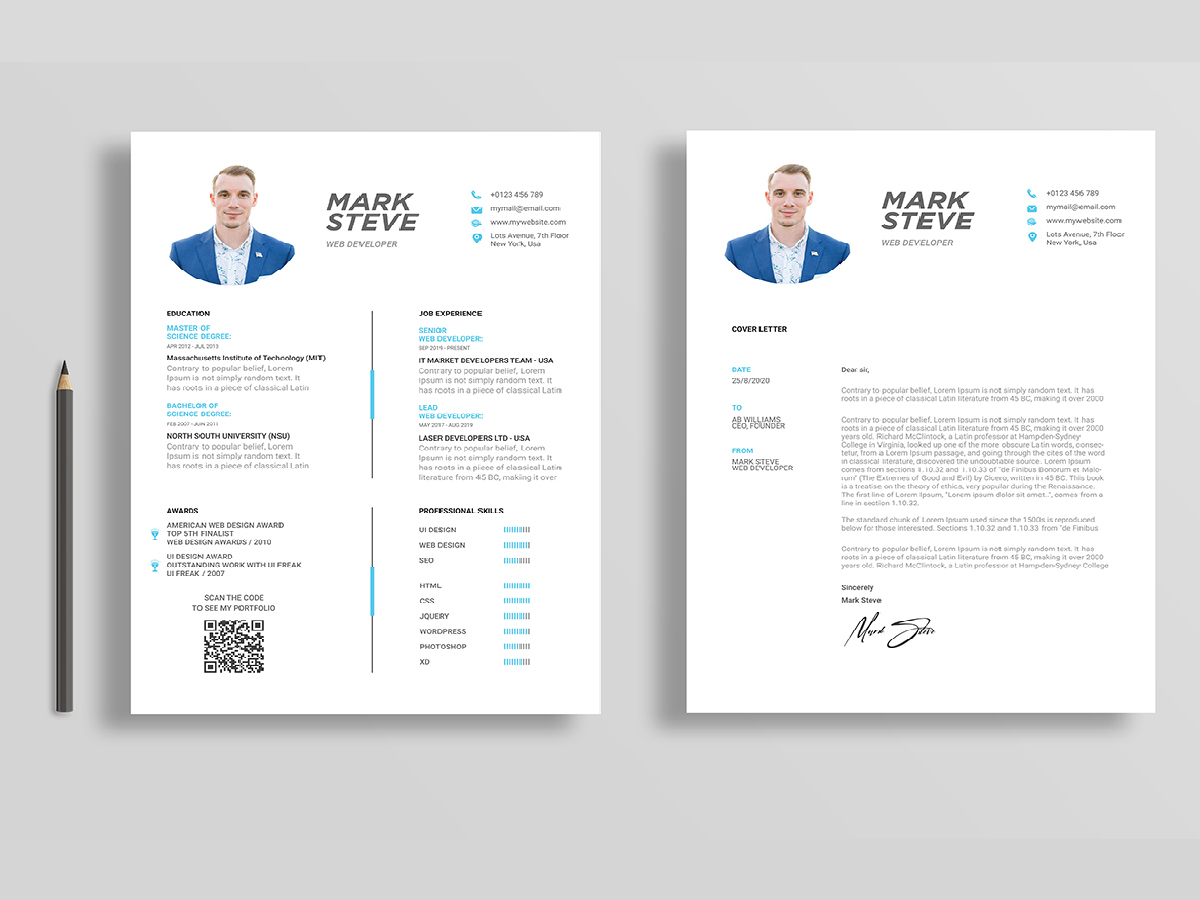 Professional Business Resume Templates Ready for Print