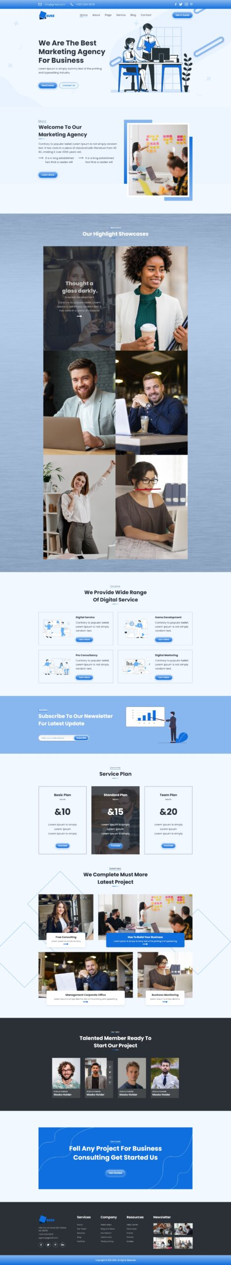 Business Landing Page Template Free