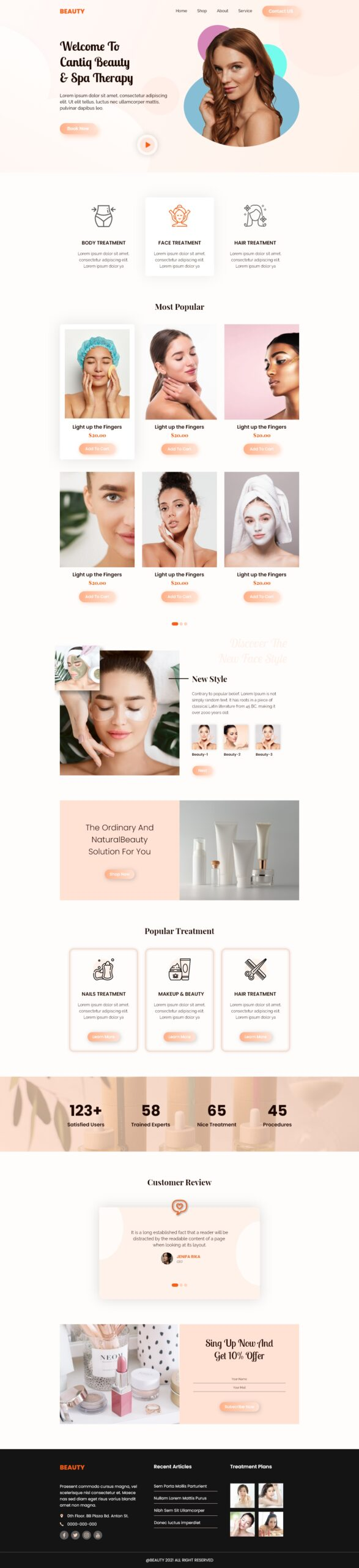 Makeup And Beauty Landing Page